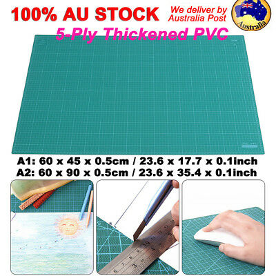 A1 A2 5-Ply Thick PVC Self Healing Cutting Mat Craft Quilting Art DIY Grid Lines