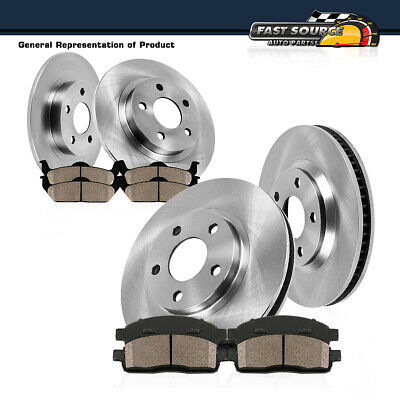 Front + Rear Brake Rotors Ceramic Pads Fit RX350 RX450H Toyota Highlander Sienna