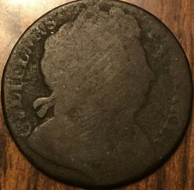 1694 UK GB GREAT BRITAIN WILLIAM AND MARY HALFPENNY - Well worn