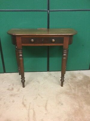 Antique Victorian Mahogany Console Table With Drawer Under
