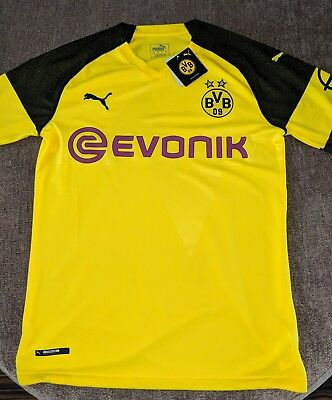 BVB Borussia Dortmund Official Home Shirt 2018-19 Puma Football Jersey Small