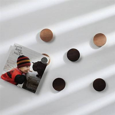 Round Strong Magnetic Wooden Hooks Key Wood Storage Device Wall Logs Key Ring