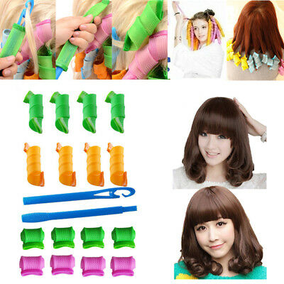18pcs Hair Rollers Styling Snail Rolls Curler Tool DIY Natural Way Curls Curling