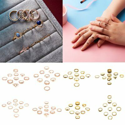 10Pcs set Vintage Fashion Women Knuckle Finger Tip Fun Rings Set Boho Jewellery