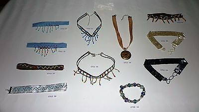 JOB LOT choker necklace  girls / kids / lady's  new  102 ITEMS IN TOTAL