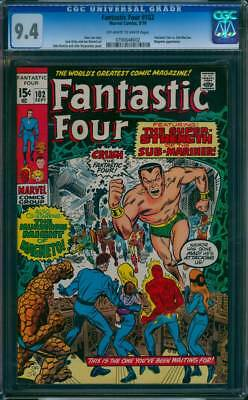 Fantastic Four # 102  The Super Strength of Sub-Mariner !  CGC 9.4 scarce book !