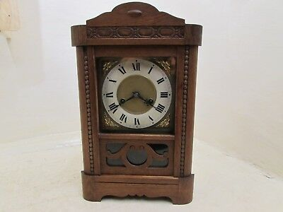 Antique HAC 14-Day Oak Cased Cottage Clock For Repair