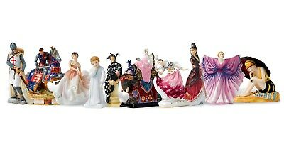 Royal Doulton Figurine Set of 10 Miniature Figures from HN Icons Collection Mint