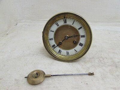 Antique French Clock Movement S.Marti Medaille D'Or Paris 1900 + Pendulum