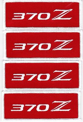 NISSAN 370Z EMBROIDERED SEW/IRON ON PATCH EMBLEM BADGE 350z RED WHITE