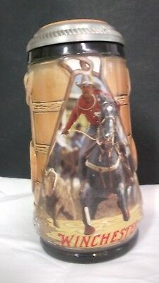 Winchester Rodeo  Stein 1996 Calf Roping First in Series Limited Edition