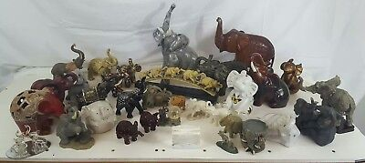 Elephant Figurine Collectibles *BUYER'S CHOICE* Hand carved, inlay, soapstone+