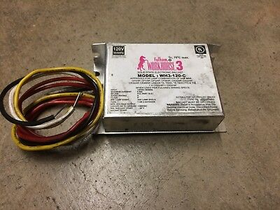 fulham WORKHORSE 3 WH3-120-C Combination of 64W max Fluorescent Ballast 120V