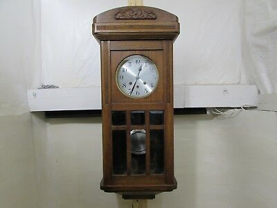 Antique German Westminster Chime Wall Clock Fully Working