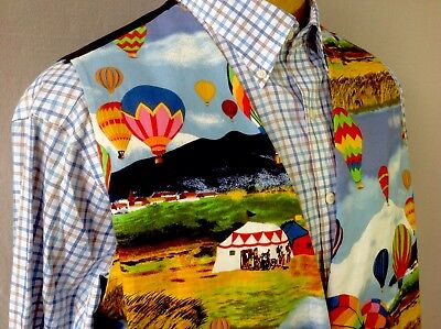 Hot Air Balloon Vest Size 3XL Cotton Crew Camp Captain Fiesta Festival Kitsch