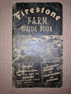 Vintage 1939 FIRESTONE FARM GUIDE BOOK Record Farmers Pocket Ledger Greene, Iowa