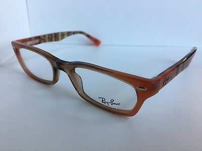 3060ede8b3 NEW AUTHENTIC RAY-BAN Rb 5150 5487 Peach Brown Frame Eyeglasses 50Mm ...