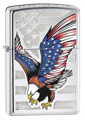 Zippo Lighter: American Eagle - High Polish Chrome 28449