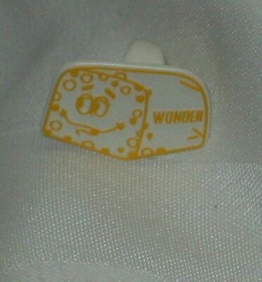 Vintage Hostess Wonder Bread Ring - 1960's  - Yellow Loaf - White Plastic
