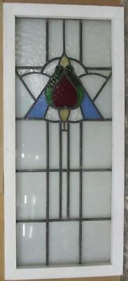 LARGE OLD ENGLISH LEADED STAINED GLASS WINDOW Magnificent Abstract 19.75 x 43.75