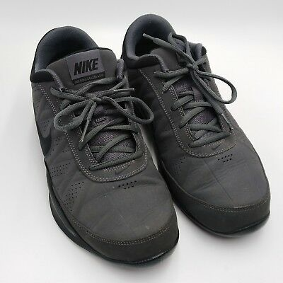 232a54fd614 NIKE AIR RING Leader Low Gray   Black Tennis Shoes Size 8 488102-002 ...
