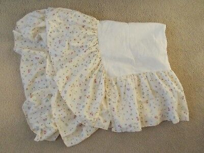 Classic Winnie the Pooh Crib Dust Ruffle Skirt,Floral, Hunny Hot Butterfly Theme