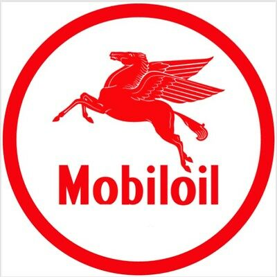 Mobil Oil Mobiloil gasoline racing vintage Style advertising sign
