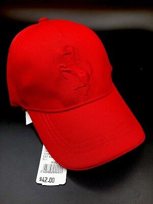 2b189bfeb80 FERRARI Kids Youth Lurex Prancing Horse Twill Hat Cap Red One Size  7840.01333 Rd