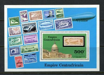 23688) REP. CENTRAFRICAINE 1977 MNH** Zeppelin stamps s/s
