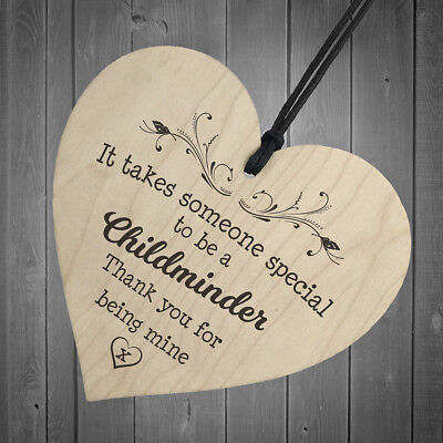 Wood 'It take someone special to be a childminds' Heart Plaque/Sign Home Decor