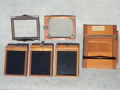 3 Eastman Kodak Dark Slides 3 1/4 x 4 1/14,  screen, adapter and some rollers,
