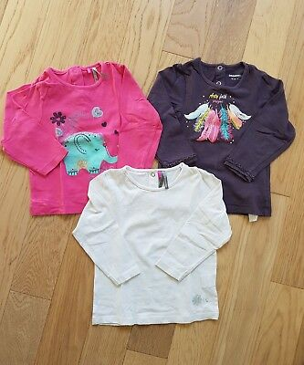 Lot 3 t-shirts fille 18 mois Orchestra