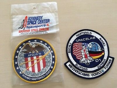NASA - Kennedy Space Center Emblem Patch- Apollo 16 und Spacelab D1 Made in USA
