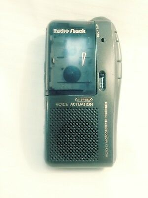 Radio Shack Micro-22 Microcassette Recorder, 2 Speed Voice Actuation, Good Cond.