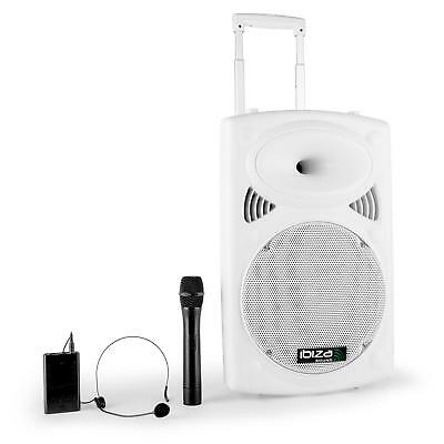 Ibiza 12 Inch Active Twelve Inch Pa System Wireless Mic * Free P&p Uk Offer