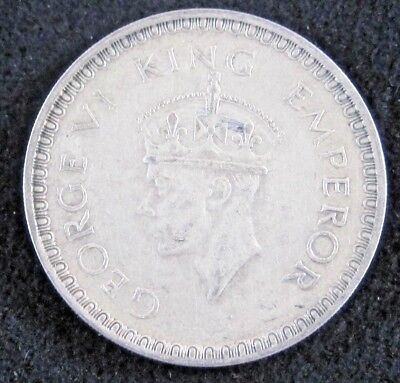 1944 B British India One Rupee KM# 557.1 - Silver Coin