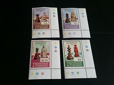 Trinidad And Tobago 1984 Sg 652-655 60Th Anniv Of Int Chess Federation Mnh