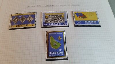 Barbados 1972 Sg 441-447 Diamond Jubilee Of Scouts. Mnh