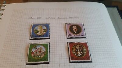 Barbados 1975 Sg 526-529 150Th Anniv Of Anglican Diocese. Mnh