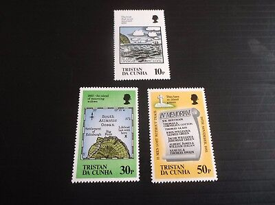 Tristan Da Cunha 1985 Sg 399-401 Cent Of Loss Of Lifeboats Mnh