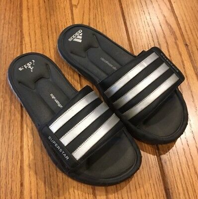 8c999dccd Adidas Men s Size 8 Black Silver Foam Footbed sandals Slip On~Velcro Flip  Flop