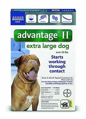 Bayer Advantage II Extra Large For Dogs Over 55 lbs. lb - 6 doses