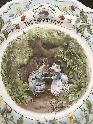 """Brambly Hedge """"THE ENGAGEMENT"""" By ROYAL DOULTON 8"""" Salad Plate RARE!"""