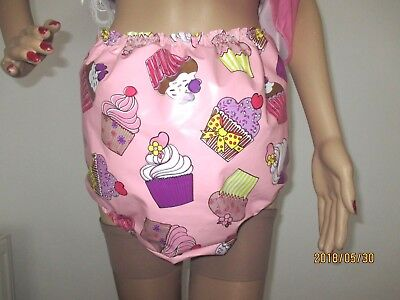 Size 20-22 Vinyl PVC Adult Baby AB ABDL Diaper Pants Panties Nappy Cover