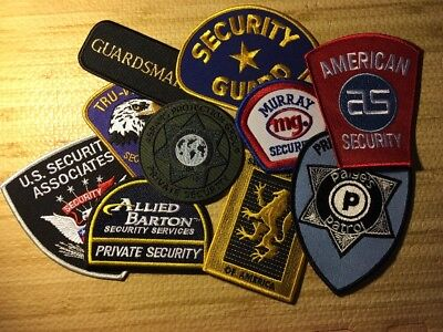 Lot Of 10  Mixed Security Police Department Patches   V3