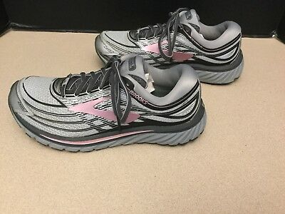 b94964b2487bf Womens Brooks Glycerin 15 Grey Silver Rose Running Shoes. Size 8B. Nice