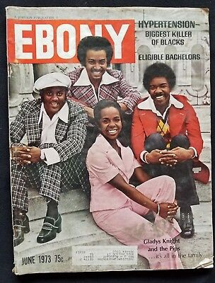 Ebony Magazine June 1973 Gladys Knight and the Pips cover