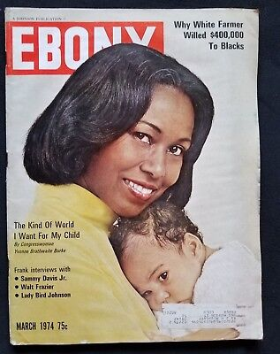Ebony Magazine March, 1974 Congresswoman Yvonne Brathwaite Burke cover
