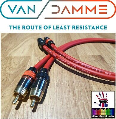 Van Damme -Monster Silver Plated OFC RCA Phono Interconnect Ultra Cable Red 1.5m