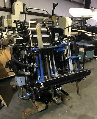 Heidelberg Windmill 10x15 Letterpress Platen Press.